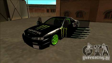 Nissan 200SX Drift Monster Energy Falken для GTA San Andreas двигатель