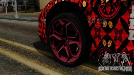Lamborghini Aventador LP-700 Batik для GTA San Andreas вид сзади слева