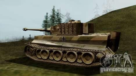 Panzerkampfwagen VI Ausf. E Tiger для GTA San Andreas вид слева