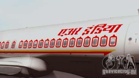 Airbus A320-200 Air India для GTA San Andreas вид сзади