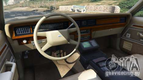 Ford LTD Crown Victoria 1987 LSPD для GTA 5 вид сзади справа
