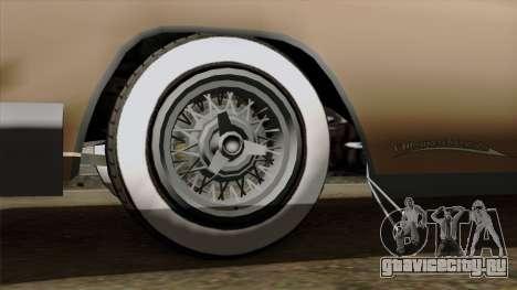 Vapid Peyote Bel-Air для GTA San Andreas вид сзади слева