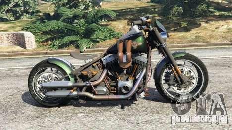 Harley-Davidson Fat Boy Lo Racing Bobber v1.1 для GTA 5 вид слева