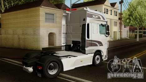 DAF XF Euro 6 SSC для GTA San Andreas вид слева