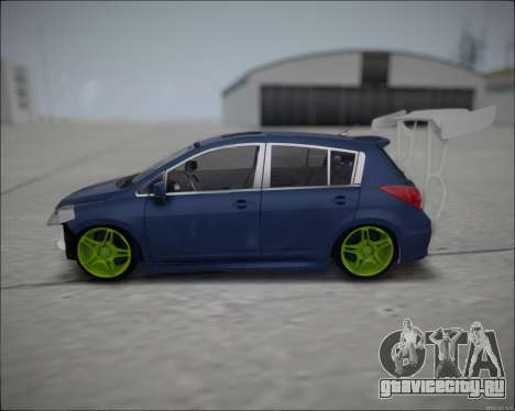 Nissan Tiida Drift Korch для GTA San Andreas вид слева