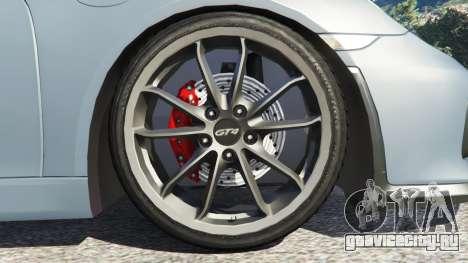 Porsche Cayman 2016 для GTA 5 вид сзади справа