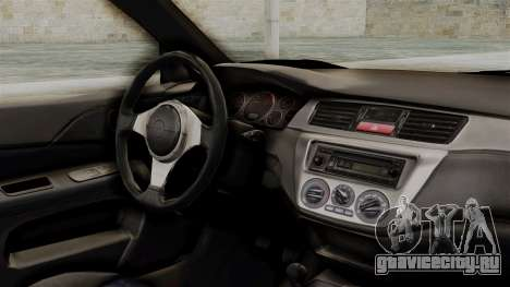 Mitsubishi Lancer Evolution v2 для GTA San Andreas вид справа