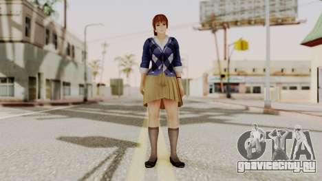 DOA 5 Kasumi Blue Sweater для GTA San Andreas второй скриншот