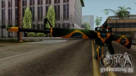 Brasileiro M4 v2 для GTA San Andreas второй скриншот