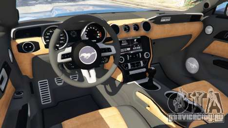 Ford Mustang GT 2015 для GTA 5 руль и приборная панель
