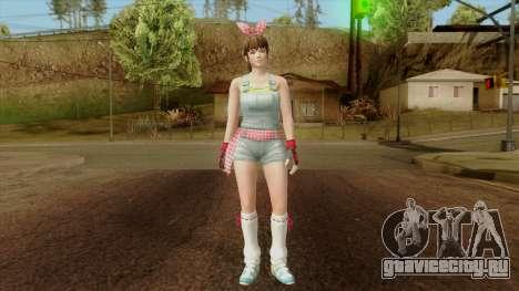 Dead Or Alive 5 Hitomi Overalls для GTA San Andreas второй скриншот