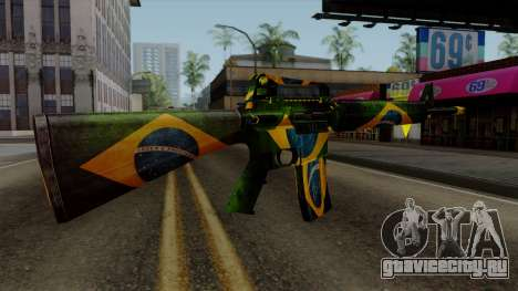 Brasileiro M4 v2 для GTA San Andreas третий скриншот