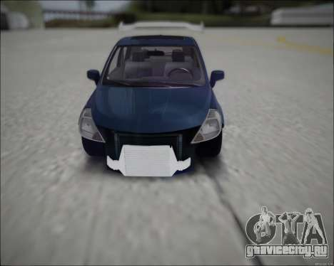 Nissan Tiida Drift Korch для GTA San Andreas вид справа