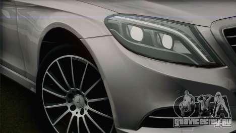 Mercedes-Benz S500 W222 для GTA San Andreas вид справа