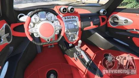 Pagani Huayra для GTA 5 руль и приборная панель