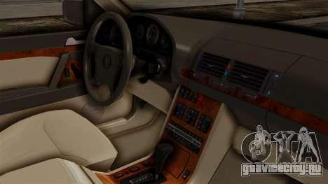 Mercedes-Benz W140 400SE 1992 для GTA San Andreas вид справа