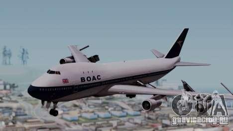 Boeing 747-100 British Overseas Airways для GTA San Andreas