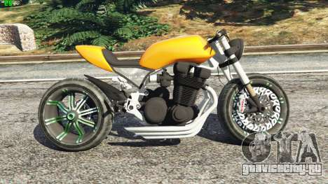 Honda CB 1800 Cafe Racer Paint для GTA 5 вид слева