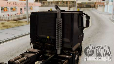 Volvo Truck from ETS 2 для GTA San Andreas вид сзади