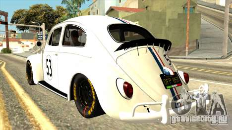 Volkswagen Beetle Herbie Fully Loaded для GTA San Andreas вид слева