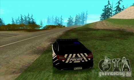 Federal Police Ford Taurus HSO для GTA San Andreas вид сзади слева