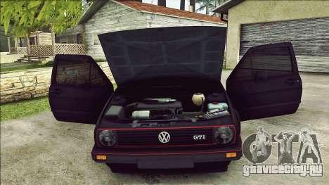 Volkswagen Golf Mk2 Line для GTA San Andreas вид снизу