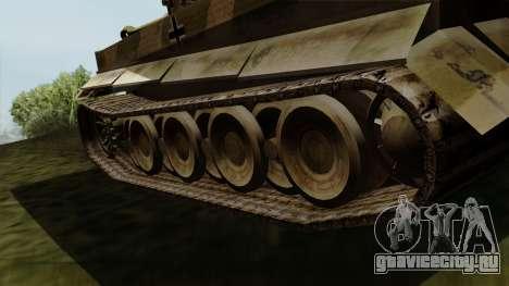 Panzerkampfwagen VI Ausf. E Tiger для GTA San Andreas вид сзади слева