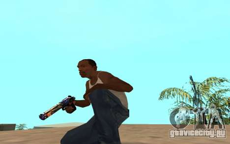 Desert Eagle с тигрёнком для GTA San Andreas третий скриншот