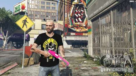 Trevor Guns and Roses Top Hat Shirt для GTA 5 пятый скриншот