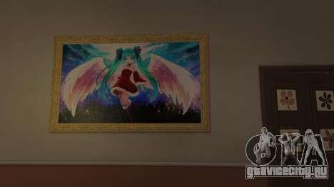 Аниме постеры для дома Майкла для GTA 5