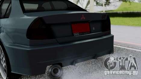 Mitsubishi Lancer Evolution Turbo для GTA San Andreas вид сзади