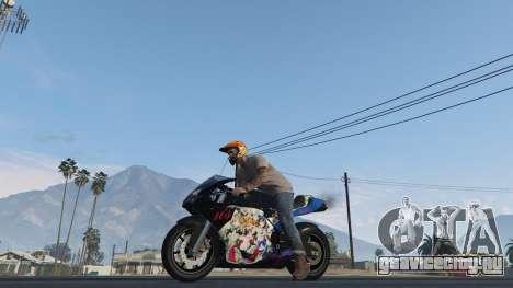 Pegassi Bati 801RR Anime Texture Pack для GTA 5 вид сзади