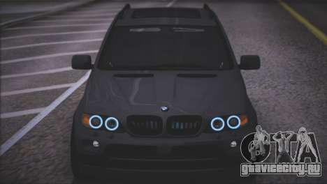 BMW X5 E53 для GTA San Andreas вид сверху