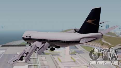 Boeing 747-100 British Overseas Airways для GTA San Andreas вид слева