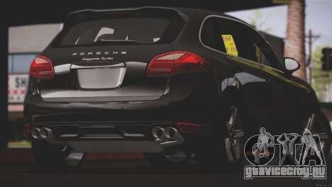 Porsche Cayenne Turbo 2012 для GTA San Andreas вид снизу
