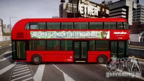 Wrightbus New Routemaster Metroline для GTA 4 вид слева