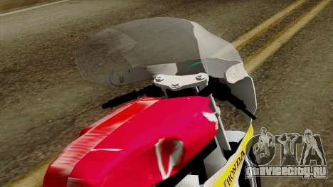 Honda RC166 v2.0 World GP 250 CC для GTA San Andreas вид сзади