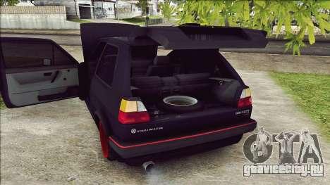 Volkswagen Golf Mk2 Line для GTA San Andreas вид сзади