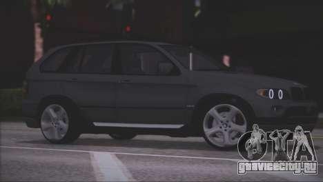 BMW X5 E53 для GTA San Andreas вид снизу