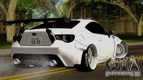 Subaru BRZ 2010 Rocket Bunny v1 для GTA San Andreas вид слева