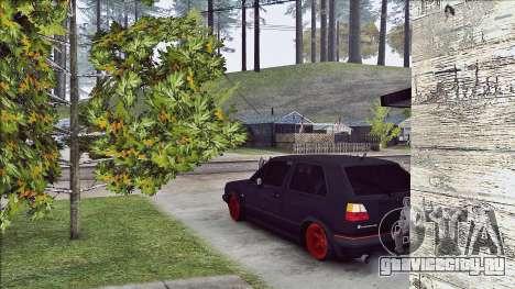 Volkswagen Golf Mk2 Line для GTA San Andreas вид сзади слева