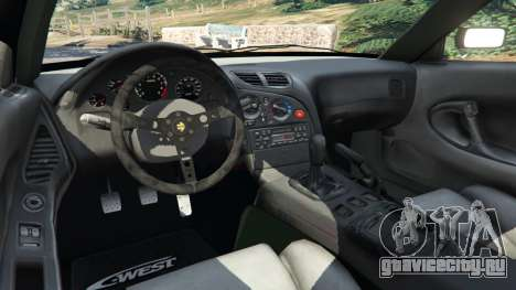 Mazda RX-7 C-West v0.3 для GTA 5 вид сзади справа