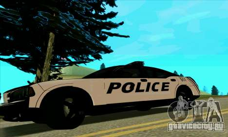 Federal Police Dodge Charger SRT8 для GTA San Andreas вид слева