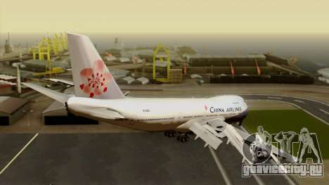 Boeing 747-200 China Airline для GTA San Andreas вид слева