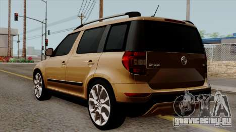 Skoda Yeti 2014 для GTA San Andreas вид слева