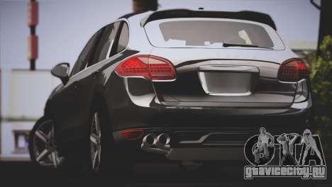 Porsche Cayenne Turbo 2012 для GTA San Andreas вид сзади слева