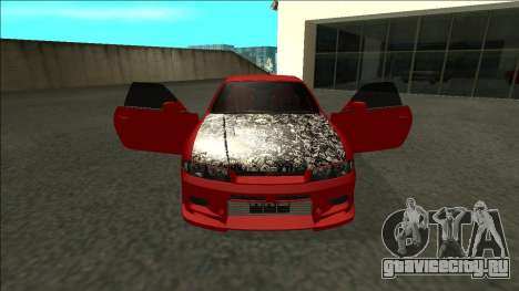 Nissan Skyline R33 Fairlady для GTA San Andreas вид изнутри