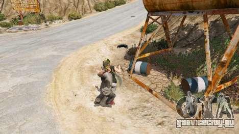 Скимитар из Skyrim для GTA 5 четвертый скриншот
