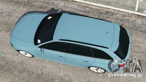 Audi A4 Avant 2013 для GTA 5 вид сзади