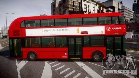 Wrightbus New Routemaster Arriva для GTA 4 вид слева
